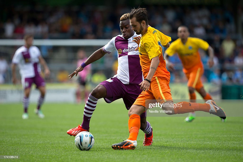 Yacouba Sylla of Aston Villa in action during the Pre Season Friendly match between Wycombe Wanderers and Aston Villa at Adams Park on July 20, 2013 in High Wycombe, England.