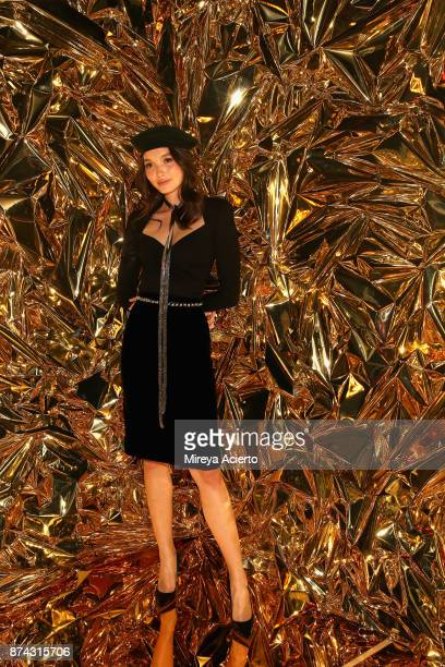Yada Villaret attends the 50th anniversary celebration of Wilhelmina with cohost Patti Hansen on November 14 2017 in New York City