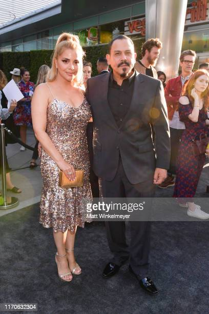 Yadi Valerio Rivera and Emilio Rivera attend the premiere of FX's Mayans MC Season 2 at ArcLight Cinerama Dome on August 27 2019 in Hollywood...