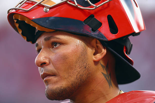 Yadier Molina #4 of the St. Louis Cardinals