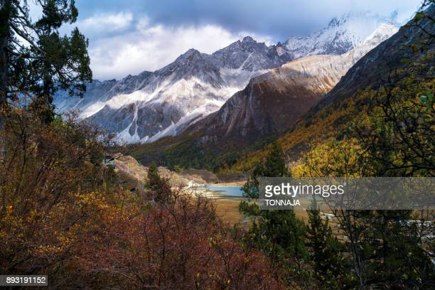 Yading Nature Reserve in autumn season, Sichuan, China