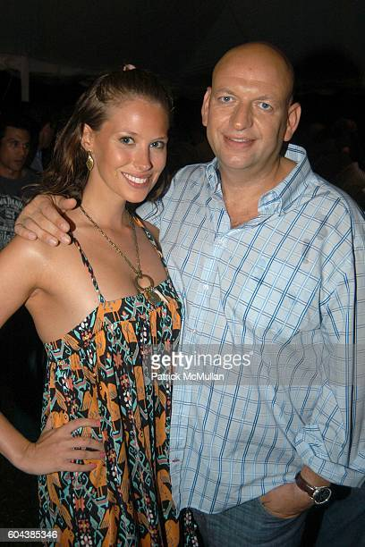 Yael Aflalo and David Rosenberg attend Cocktail Party With Steven Schonfeld Celebrating Mindy Greenblatt's Birthday at Watermill on August 19 2006