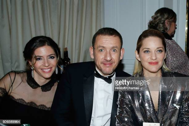 Yael Boon Dany Boon and Marion Cotillard attend 'Dinner at Le Fouquet's' during Cesar Film Award 2018 at Le Fouquet's on March 2 2018 in Paris France