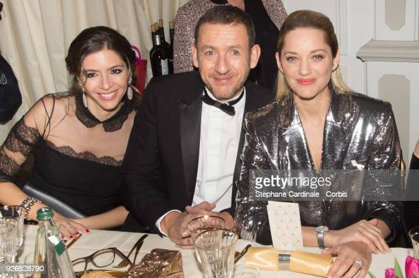 Yael Boon Dany Boon and Marion Cotillard attend the Cesar ceremony dinner at Le Fouquet's on March 2 2018 in Paris France