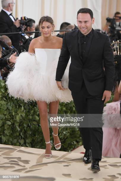 Yael Cohen Braun and Scooter Braun attend the Heavenly Bodies Fashion The Catholic Imagination Costume Institute Gala at The Metropolitan Museum of...