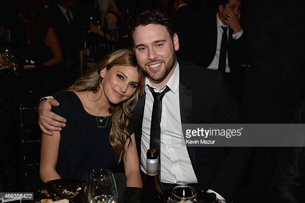 Yael Cohen Braun and talent manager Scooter Braun attend The Comedy Central Roast of Justin Bieber at Sony Pictures Studios on March 14 2015 in Los...