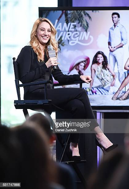 Yael Grobglas attends AOL Build to discuss her show 'Jane the Virgin' on May 16 2016 in New York New York