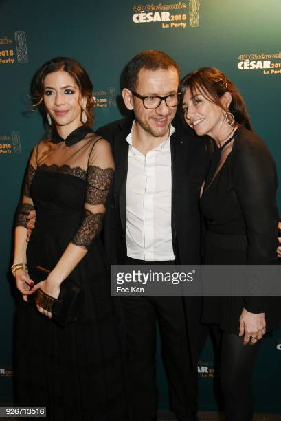 Yael Harris Dany Boon and Albane Cleret attend at the Cesar Film After PartyAwards 2018 at Le Queen on March 2 2018 in Paris France