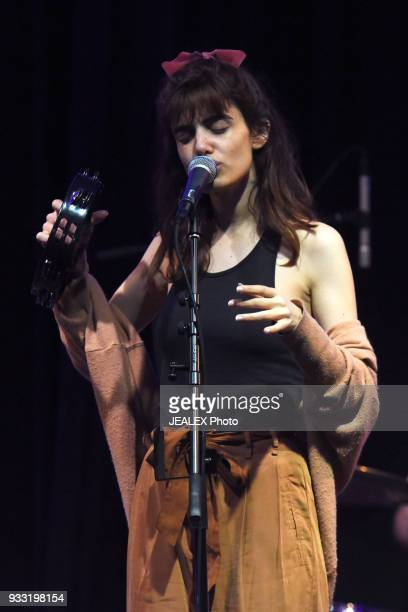 Yael Shoshana Cohen of Lola Marsh performs onstage at International Day Stage during SXSW on March 17 2018 in Austin Texas