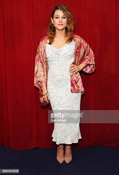 Yael Stone arrives ahead of the 2015 Sydney Theatre Awards on January 18 2016 in Sydney Australia