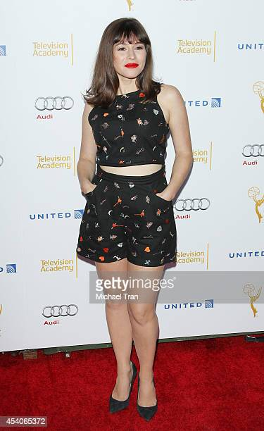Yael Stone arrives at the Television Academy Performers Nominee Reception for The 66th Emmy Awards held at Spectra by Wolfgang Puck at the Pacific...
