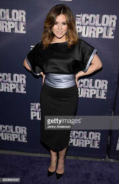 Yael Stone attends 'The Color Purple' Broadway opening night at the Bernard B Jacobs Theatre on December 10 2015 in New York City