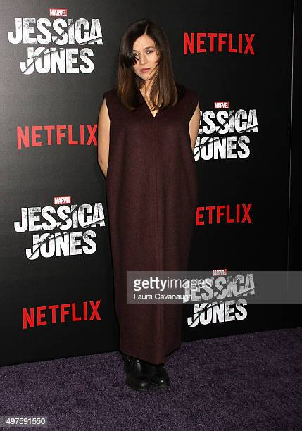 Yael Stone attends the 'Jessica Jones' series premiere at Regal EWalk on November 17 2015 in New York City