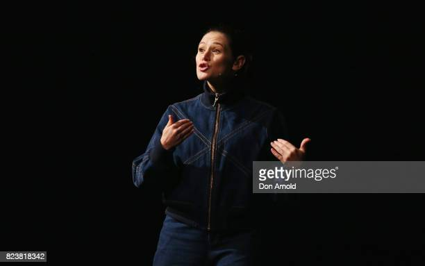 Yael Stone presents a keynote speech 'Streaming is the new black with Yael Stone' during the Video Junkee 2017 on July 28 2017 in Sydney Australia