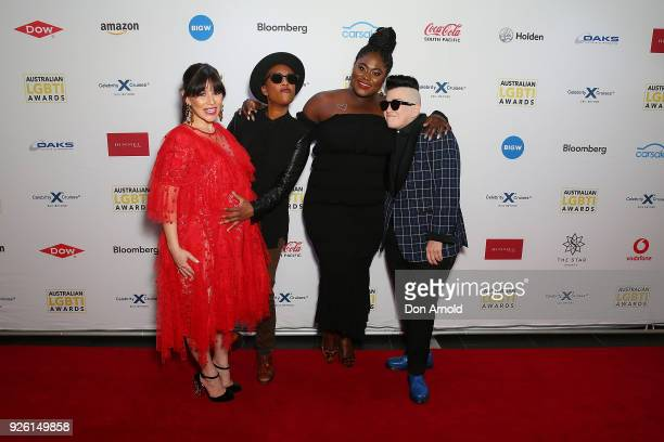 Yael Stone Samira Wiley Danielle Brooks and Lea DeLaria attend the Australian LGBTI Awards at The Star on March 2 2018 in Sydney Australia