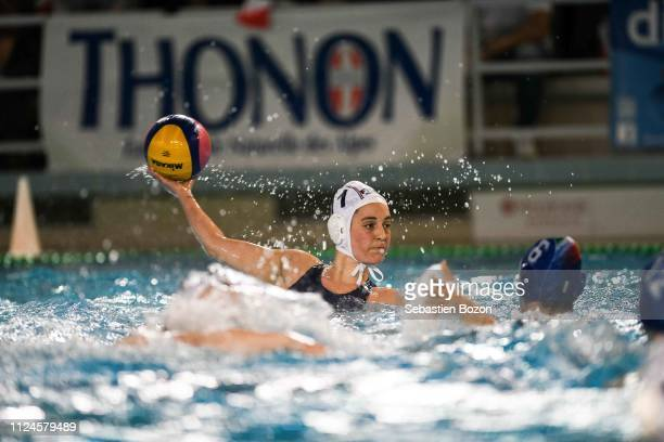 Yaelle Deschampt of France during the Women's International Match Water Polo match between France and Italy on February 12 2019 in Mulhouse France