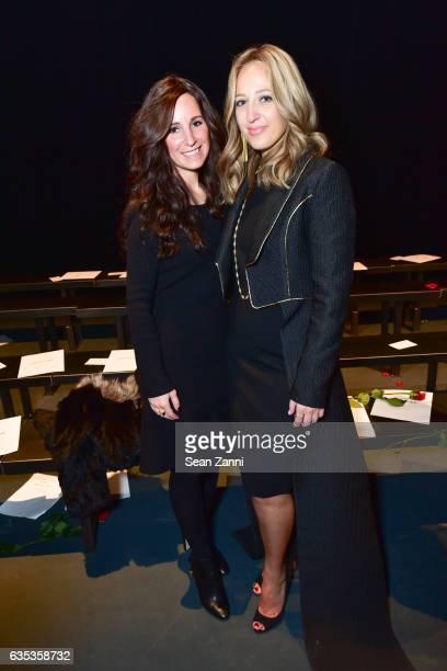 Yaffa Rothman and Freida Rothman at the John Paul Ataker Show featuring Freida Rothman Jewelry during New York Fashion Week at Pier 59 Studios on...
