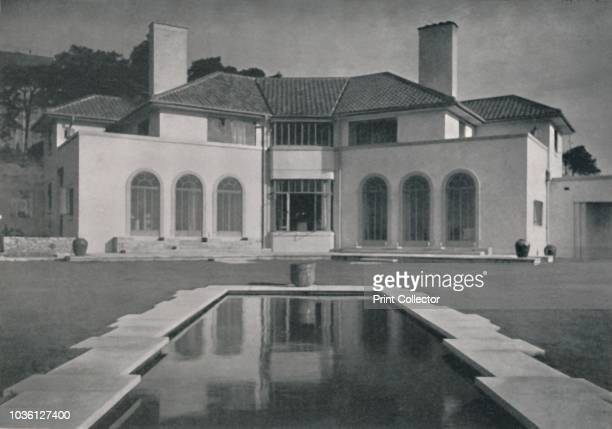 Yaffle Hill Broadstone Dorset' 1933 Architect Edward Maufe FRIBA built in 1929 for Cyril Carter The house is of brick rendered in Snowcrete roof of...