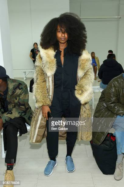 Yagazie Emezi attends the Maki Oh fashion show during New York Fashion Week on February 14 2018 in New York City