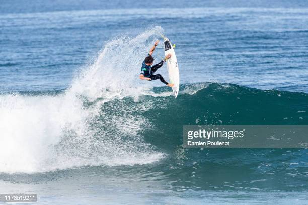 Yago Dora of Brazil advances directly to Round 3 of the 2019 Quiksilver Pro France after placing second in Heat 3 of Round 1 at Le Culs Nus on...
