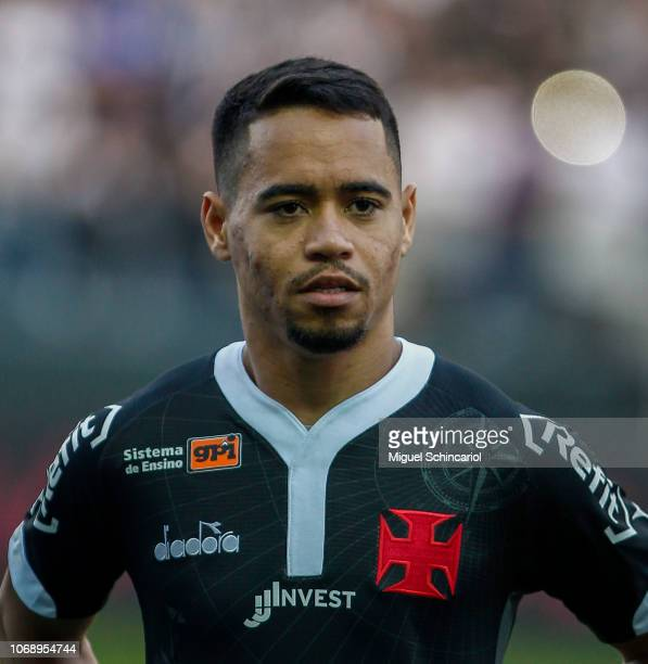 Yago Pikachu of Vasco da Gama looks on before a match between Corinthians and Vasco da Gama for the Brasileirao Series A 2018 at at Arena Corinthians...