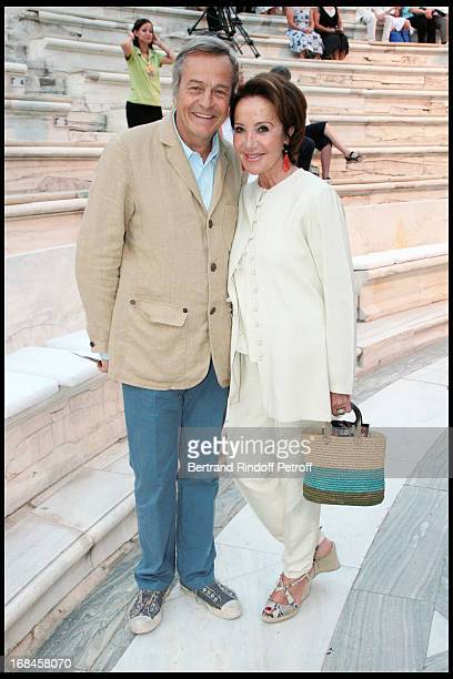 Yaguel Didier and her husband Patrick de Bourgues at Nana Mouskouri's Farewell Concert At Odeon Herodes Atticus In Athens