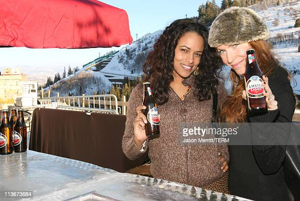 Yahaira Rodriguez and JP Phillips with Amstel at The Ice Lounge presented by The North Face Lexus and St Regis*Exclusive*