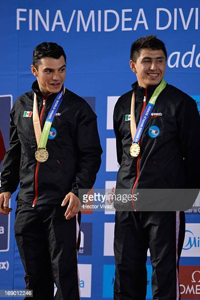 Yahel Castillo and Daniel Islas from Mexico during the Men's 3 meters Synchronized Finals of the FINA MIDEA Diving World Series 2013 at Pan American...