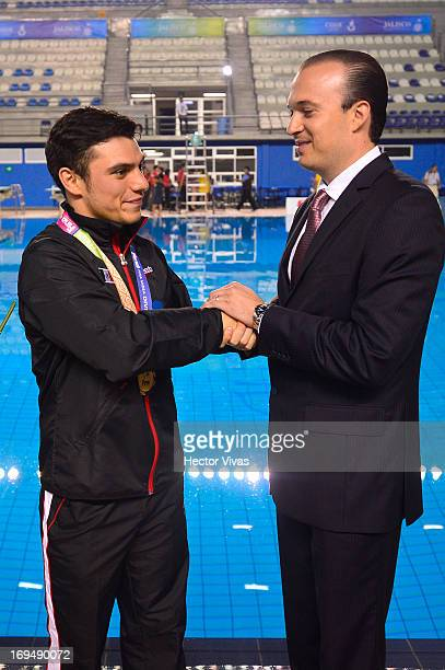 Yahel Castillo and Kiril Todorov during the Men's 3 meters Synchronized Springboard Finals of the FINA MIDEA Diving World Series 2013 at Pan American...