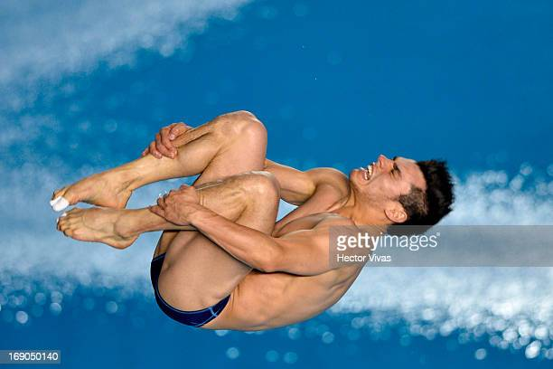 Yahel Castillo from Mexico during the Men's 3 meters Springboard Semifinals of the FINA MIDEA Diving World Series 2013 at Pan American Aquatic Center...