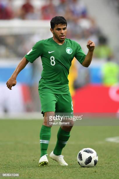 Yahia Alshehri of Saudi Arabia during the 2018 FIFA World Cup Russia group A match between Saudia Arabia and Egypt at Volgograd Arena on June 25 2018...