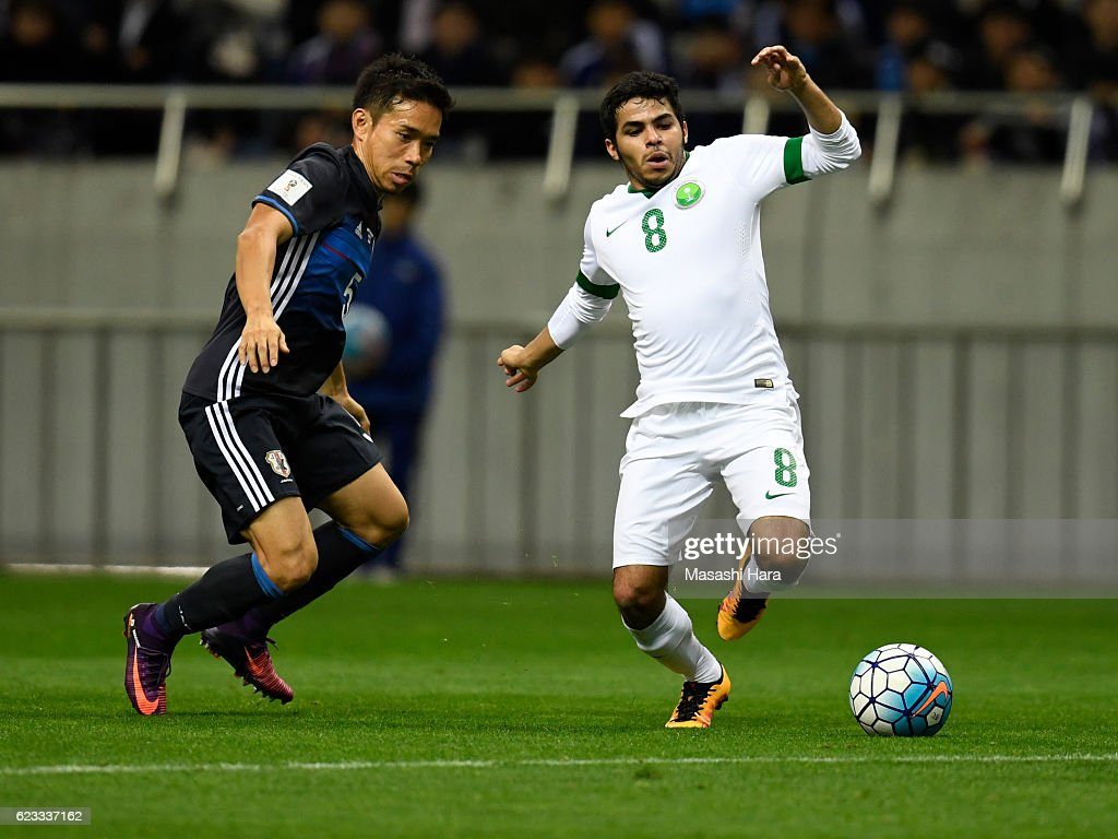 Yahia Alshehri of Saudi Arabia in action during the 2018 FIFA World Cup Qualifier match between Japan and Saudi Arabia at Saitama Stadium on November 15, 2016 in Saitama, Japan.