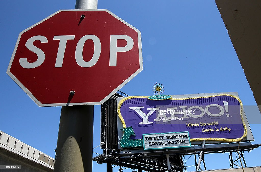 A Yahoo! billboard is seen on July 19, 2011 in San Francisco, California. Yahoo Inc. reported second quarter earnings of $237 million, or 18 cents per share, compared to $213 million, or 15 cents per share, compared to one year ago.