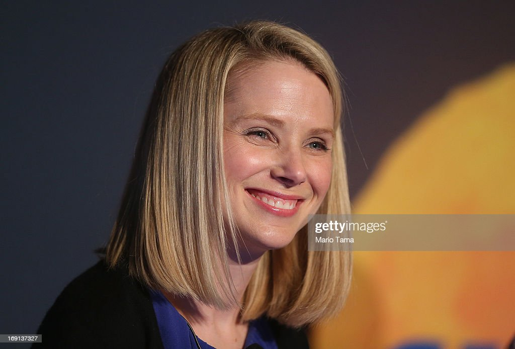 Yahoo! CEO Marissa Mayer Announces Acquisition Of Tumblr For $1.1 Billion : News Photo