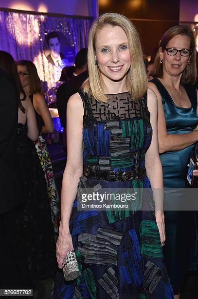 Yahoo CEO Marissa Mayer attends the Yahoo News/ABC News White House Correspondents' Dinner PreParty at Washington Hilton on April 30 2016 in...