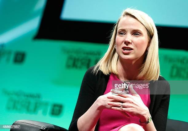 Yahoo! CEO, Marissa Mayer speaks at TechCrunch Disrupt NY 2014 - Day 3 on May 7, 2014 in New York City.