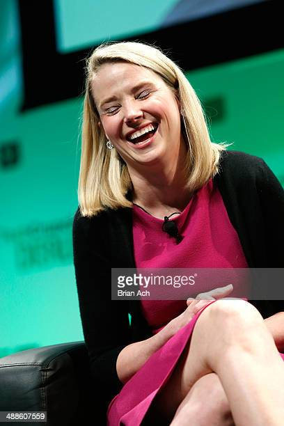 Yahoo CEO Marissa Mayer speaks at TechCrunch Disrupt NY 2014 Day 3 on May 7 2014 in New York City