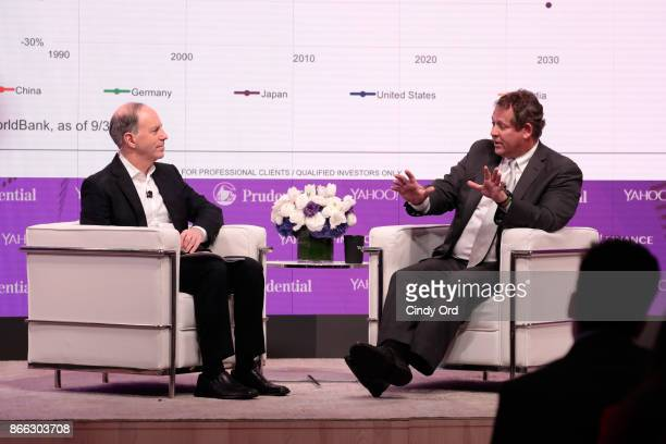 Yahoo Finance EditorinChief Andy Serwer and BlackRock Global Chief Investment Officer of Fixed Income Rick Rieder attend the Yahoo Finance All...