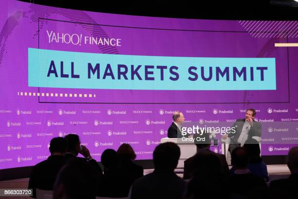 Yahoo Finance EditorinChief Andy Serwer and BlackRock Global Chief Investment Officer of Fixed Income Rick Rieder speak onstage at the Yahoo Finance...