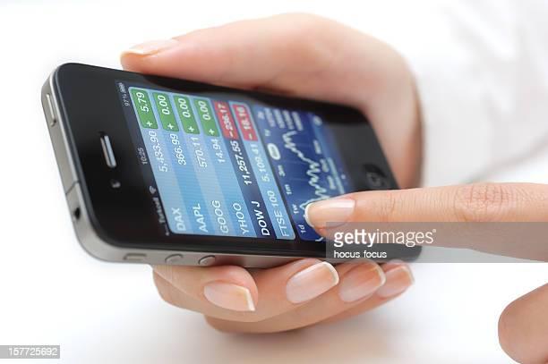 Yahoo Finance sur l'iPhone 4