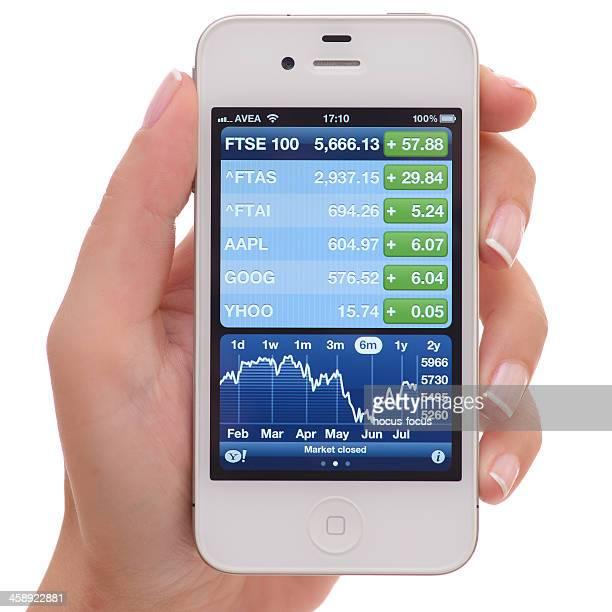 Yahoo Finanzen auf iPhone 4