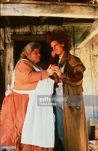 Yahoo Serious says goodbye to Su Cruickshank in a scene from the Warner Bros movie 'Young Einstein' circa 1988