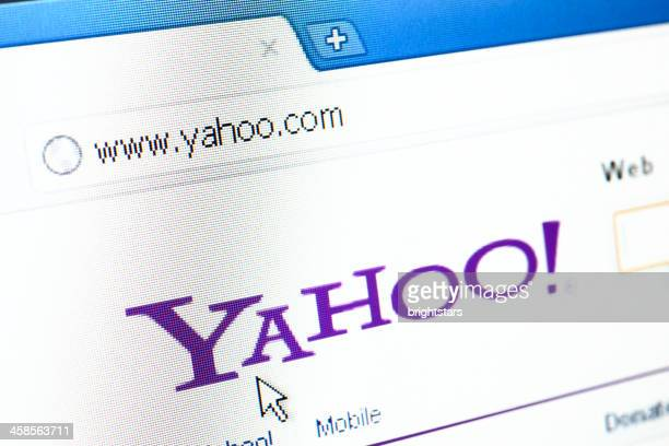 Yahoo webpage on the browser