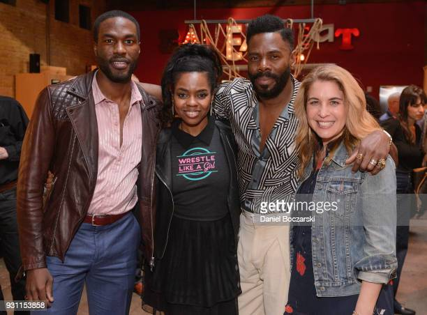 Yahya AbdulMateen II Elvire Emanuelle Colman Domingo and Olivia Newman attend the afterparty following the premiere of 'First Match' during SXSW 2018...