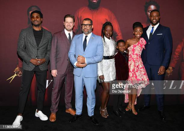 "Yahya Abdul-Mateen II, Tim Heidecker, Lupita Nyong'o, Evan Alex, Shahadi Wright Joseph and Winston Duke attend the ""US"" New York Premiere at The..."
