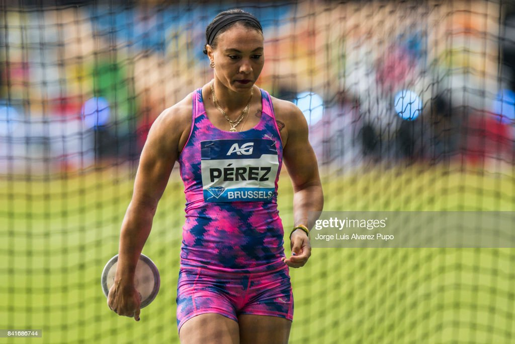 Yaimé Pérez of Cuba competes in women's Discus Throw during the AG Insurance Memorial Van Damme as part of the IAAF Diamond League 2017 in King Baudouin Stadium on September 1, 2017 in Brussels, Belgium.