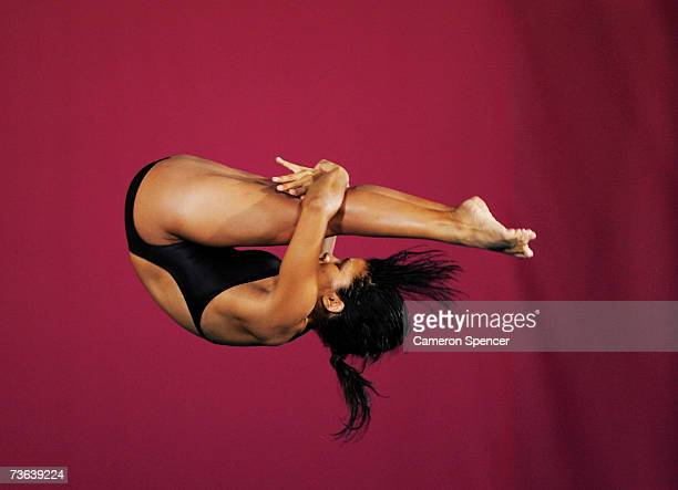 Yaima Rosario Mena Pena of Cuba competes in the Women's 10m Platform during the XII FINA World Championships on March 20 2007 in Melbourne Australia