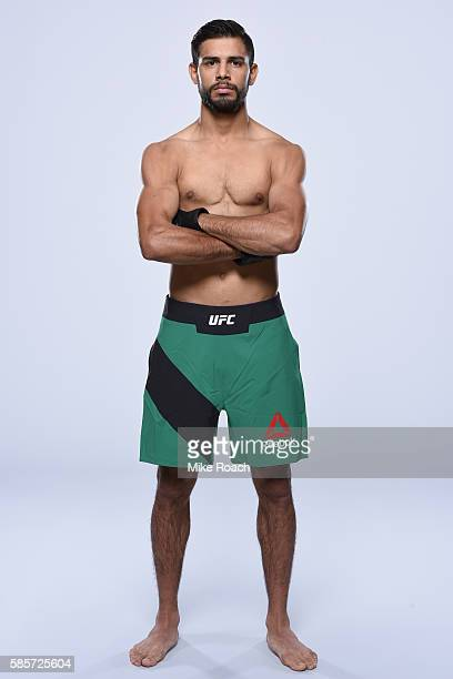 Yair Rodriguez of Mexico poses for a portrait during a UFC photo session at Provo Marriott Hotel Conference Center on August 2 2016 in Provo Utah