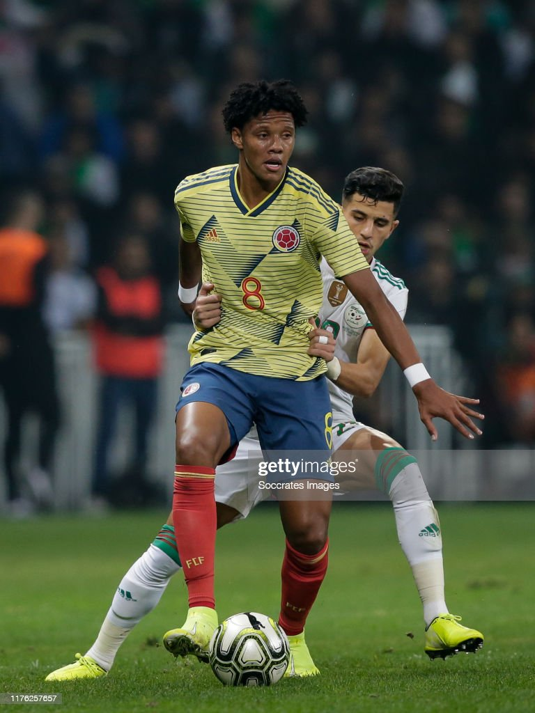 Yairo Moreno of Colombia, Youcef Atal of Algeria during the... News Photo -  Getty Images