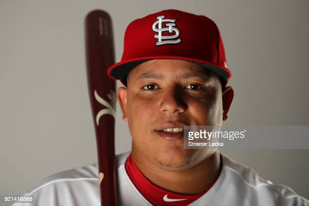 Yairo Munoz of the St Louis Cardinals poses for a portrait at Roger Dean Stadium on February 20 2018 in Jupiter Florida